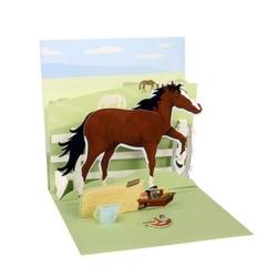 Felicitare 3D-Cal de echitatie. O felicitare dedicata persoanelor iubitoare de calarie si cai