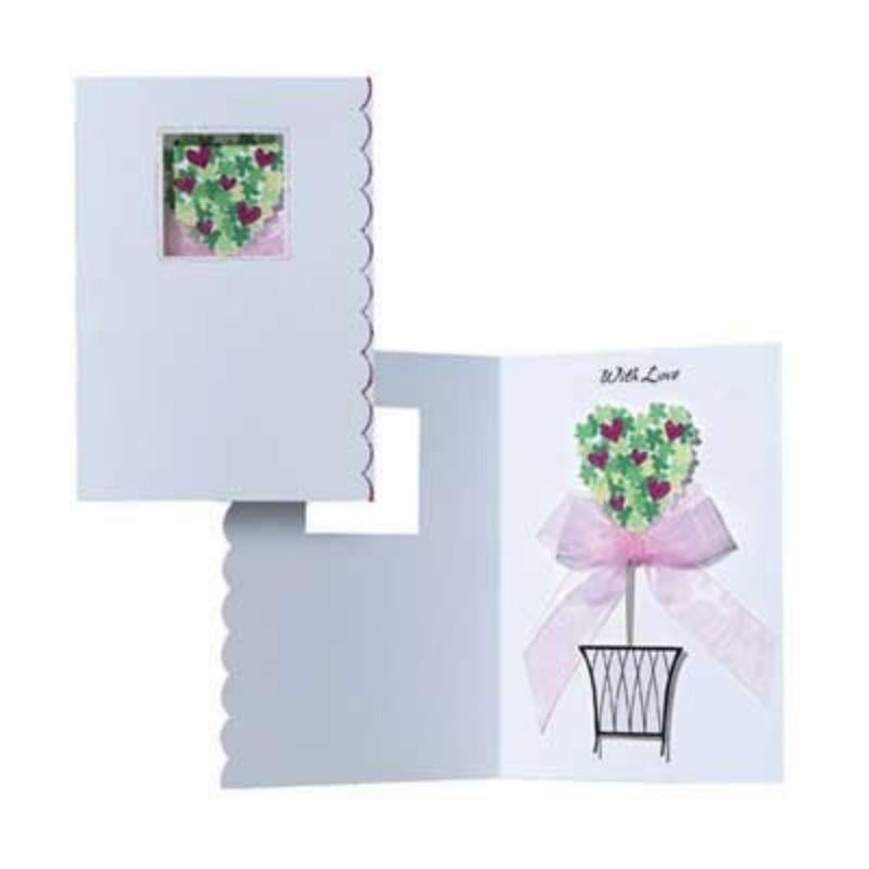 Felicitare 3D Tres Panache - Ghiveci cu flori. O felicitare la moda pentru orice eveniment.