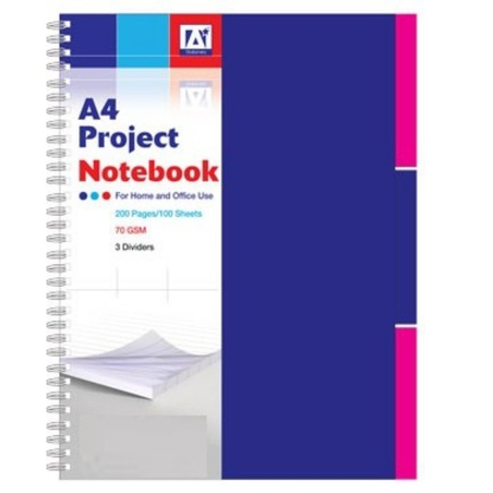 Caiet A4 cu spira, dictando, 100 file, 3 subiecte