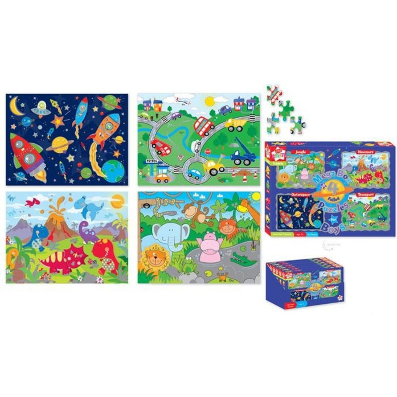 Set 4 puzzle baieti-Kids Create