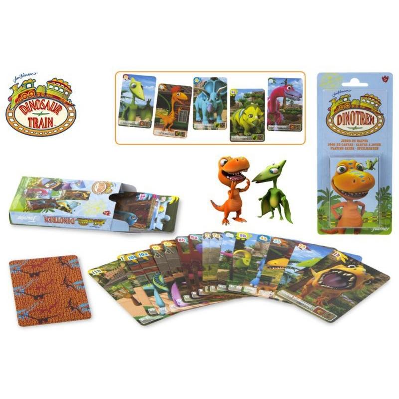 Carti de joc pentru copii Dinotren