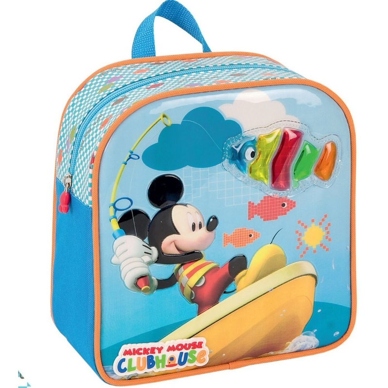 Rucsac mic gradinita MICKEY MOUSE CLUB HOUSE pescar