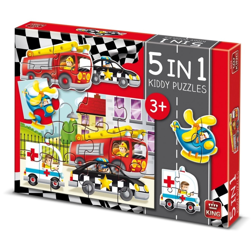 Puzzle 5 in 1 - Cars