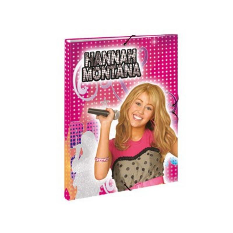 Dosar cu elastic format A4 Hannah Monatana (Disney)