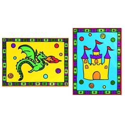 Primele mele minipicturi pe nr. Dragon & castel