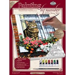 Pictura pe panza - Pisica la Geam importator Jad Flamande