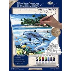 Pictura pe panza - Delfini