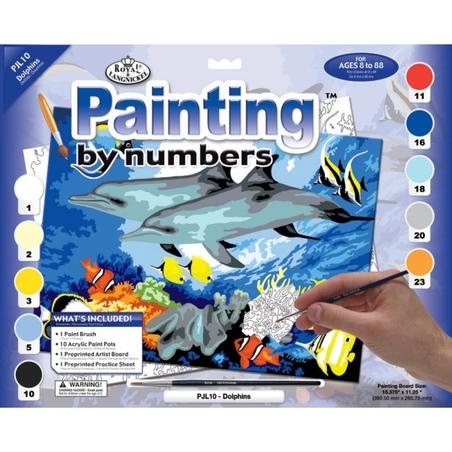 """Pictura pe numere juniori - """"Delfini"""""""