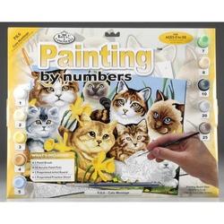 Prima mea pictura pe numere - Pisici