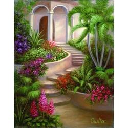 Set pictura artistica pe panza - Gradina tropicala