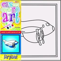 Pictura pe panza pentru copii Avion