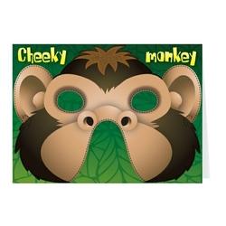 Felicitare cu masca-Maimuta