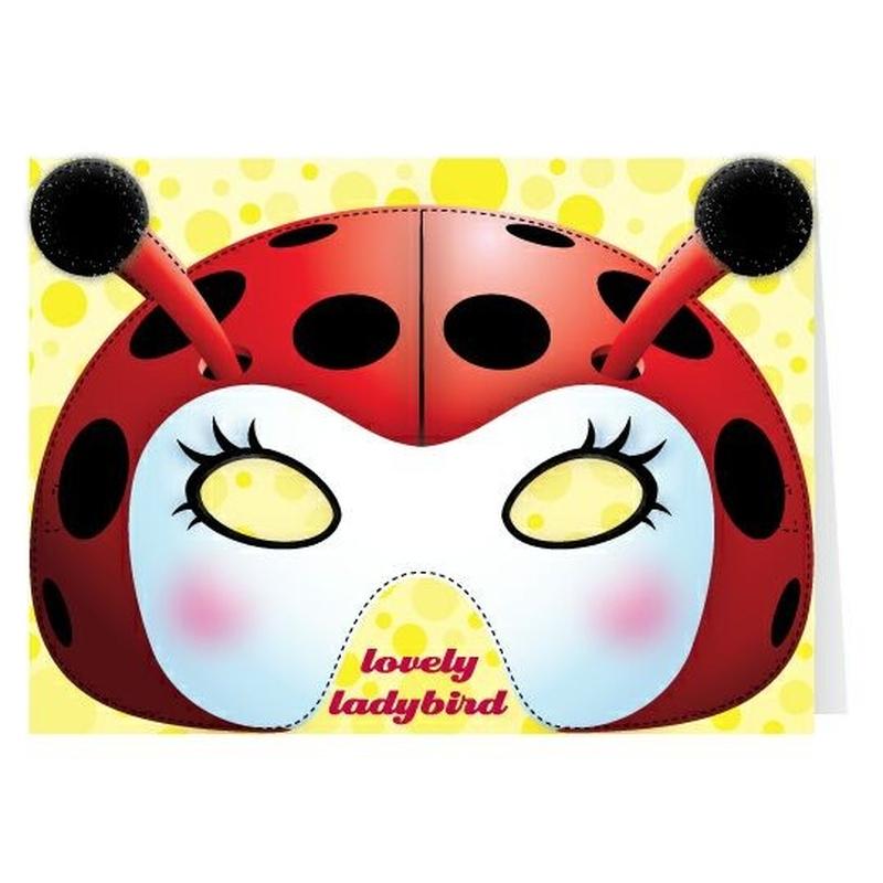 Felicitare cu masca Ladybird