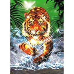 Puzzle 1000 piese cu efect metalic model tigru