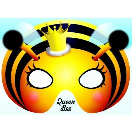 Felicitare cu masca Queen Bee