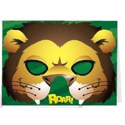 Felicitare cu masca-Leu (regele junglei)