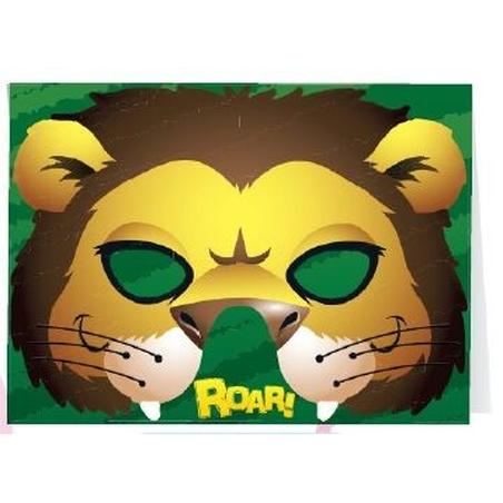Felicitare cu masca Lion