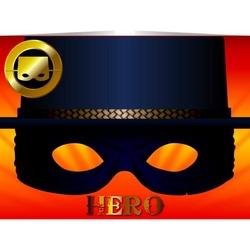 Felicitare cu masca-Erou/Zorro