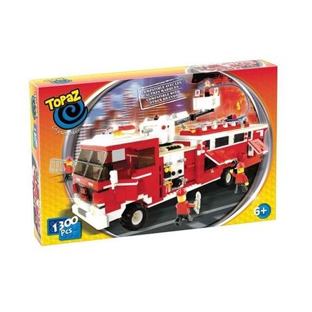 Set de construit-Mega camion pompieri-1300 piese