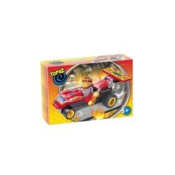 Set de construit-Masina de curse rosie-40 piese