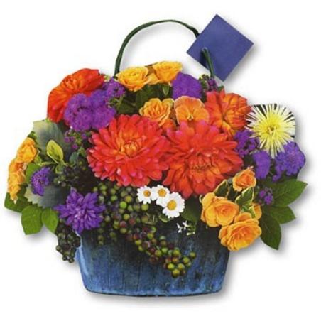 Punga de hartie-Cosulet cu flori