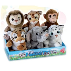 Jucarie din plus Animal jungla 18 cm