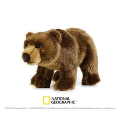 Jucarie din plus National Geographic Urs Grizzly 30 cm