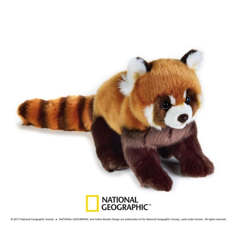 Jucarie din plus National Geographic Panda rosu 26 cm