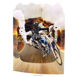 Motocicleta - Felicitare 3D Swing Cards. O felicitare perfecta pentru copii si adulti