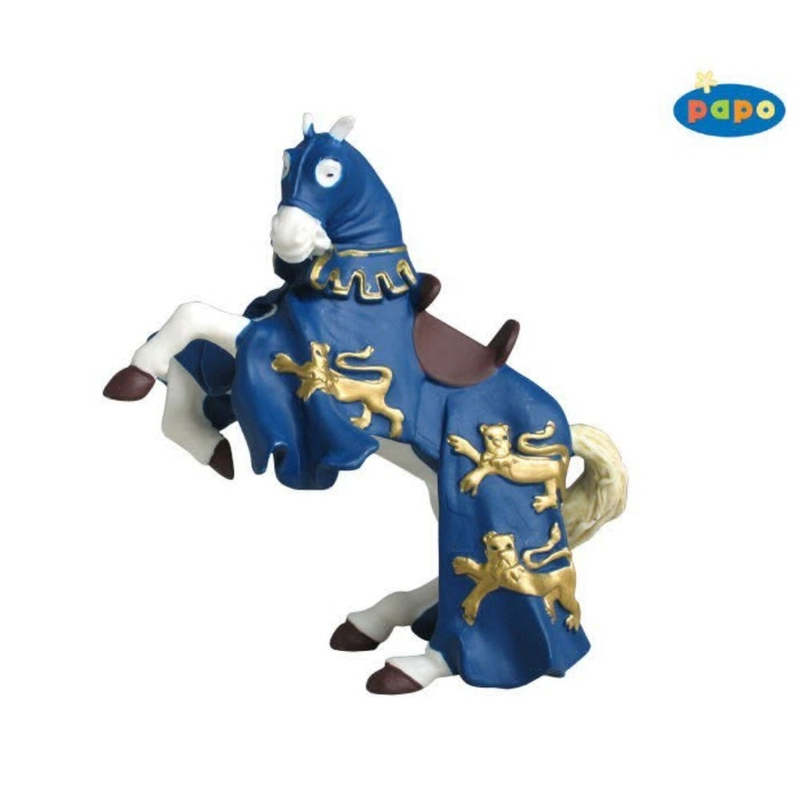 Calul regelui Richard (albastru) - Figurina Papo