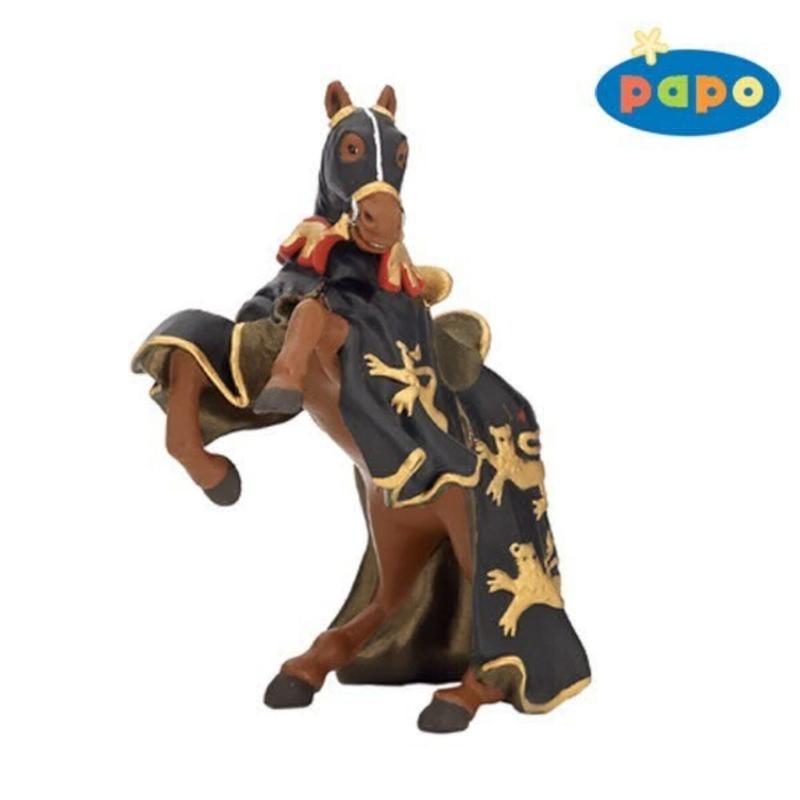 Calul Regelui Richard cu sulita(negru cu auriu) - Figurina Papo