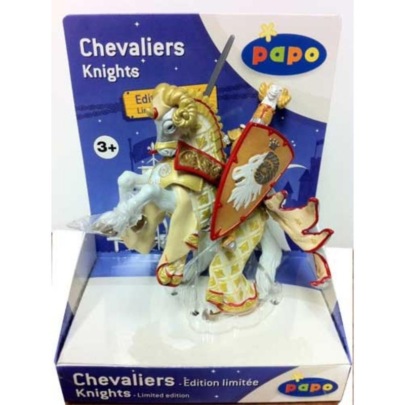 Cavaler maestrul armelor si calul sau - gold - Set figurine Papo