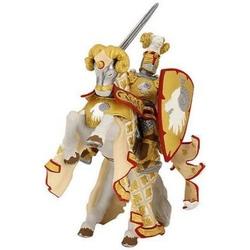 Set figurine Papo -Cavaler maestrul armelor si calul sau - gold