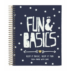 Agenda A6 120 file Fun & Basics 14.6x11.8 cm