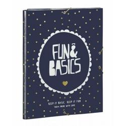 Dosar cu 3 elastice Fun & Basics 33.5x26 cm