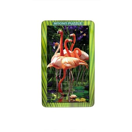 Flamingo-Puzzle magnetic holografic (3D) portret