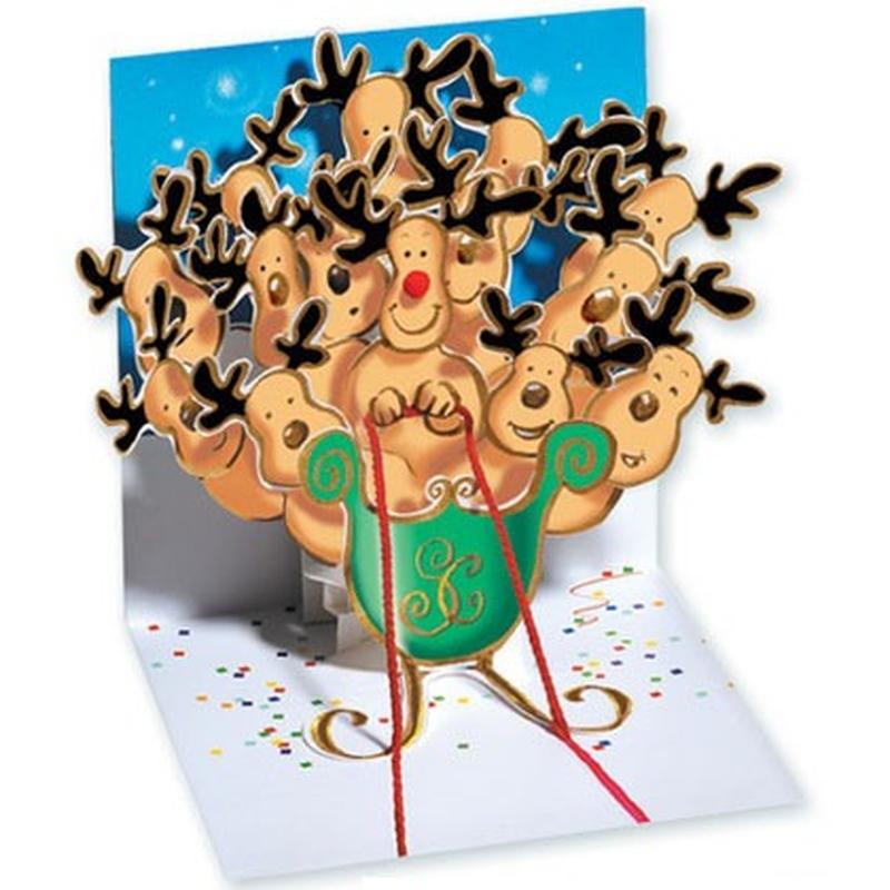 Felicitare 3D Reindeer