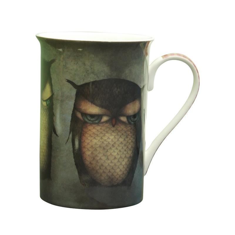 Cana Grumpy Owl inalta din portelan