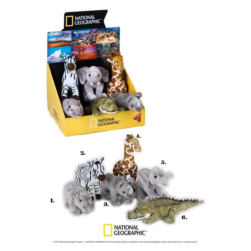 Jucarie din plus National Geographic Animal savana pui 18cm