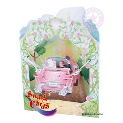 Felicitare 3D Swing Cards dinamica model-Masina matrimoniala