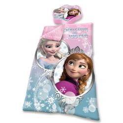 Sac de dormit cu perna Frozen, roz