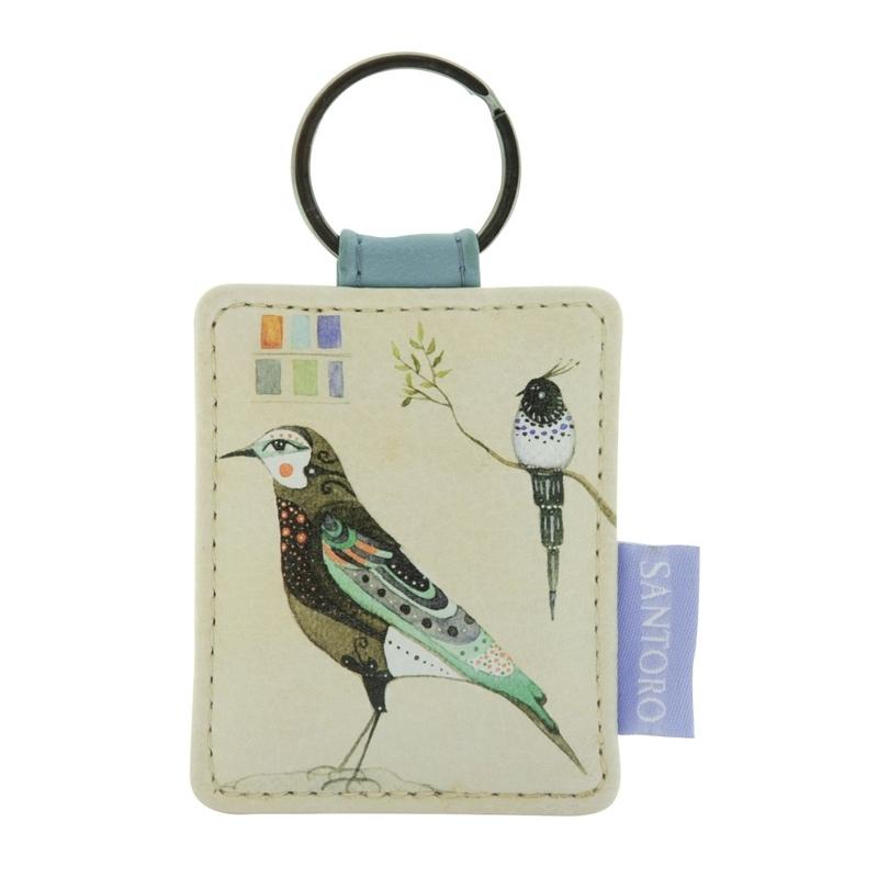 Breloc patrat Watercolour Birds