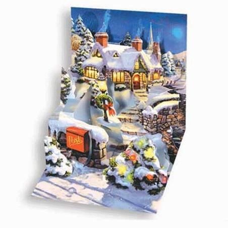 Minifelicitare 3D Craciun - Country Christmas
