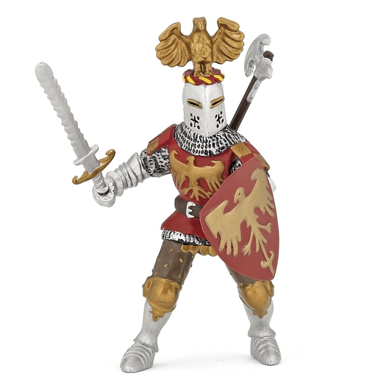 Figurina Papo-Cavaler rosu cu creasta
