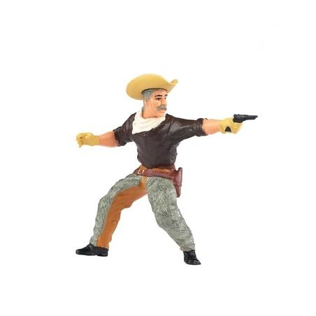 Cowboy cu mustata si pistol