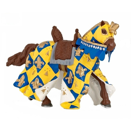 Figurina Papo-Cal albastru medieval