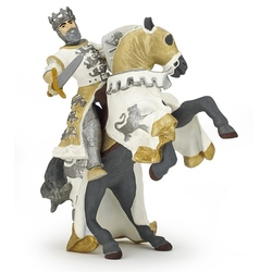 Cal rege Richard alb - Figurina Papo