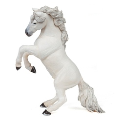 Cal alb mare cu coama - Figurina Papo