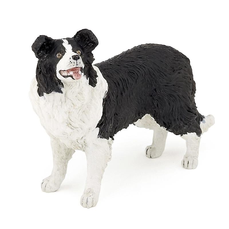 Figurina Papo-Collie alb cu negru