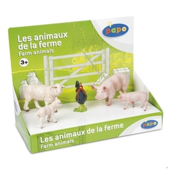 Set figurine Papo-Cutie set animale ferma